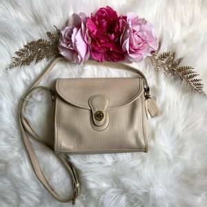 Coach Vintage Classic Devon Bag 9908 Cream Leather